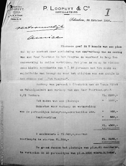stichting van Julianadorp in 1906   1909